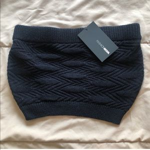 Small Sweater Bandeau Crop Top